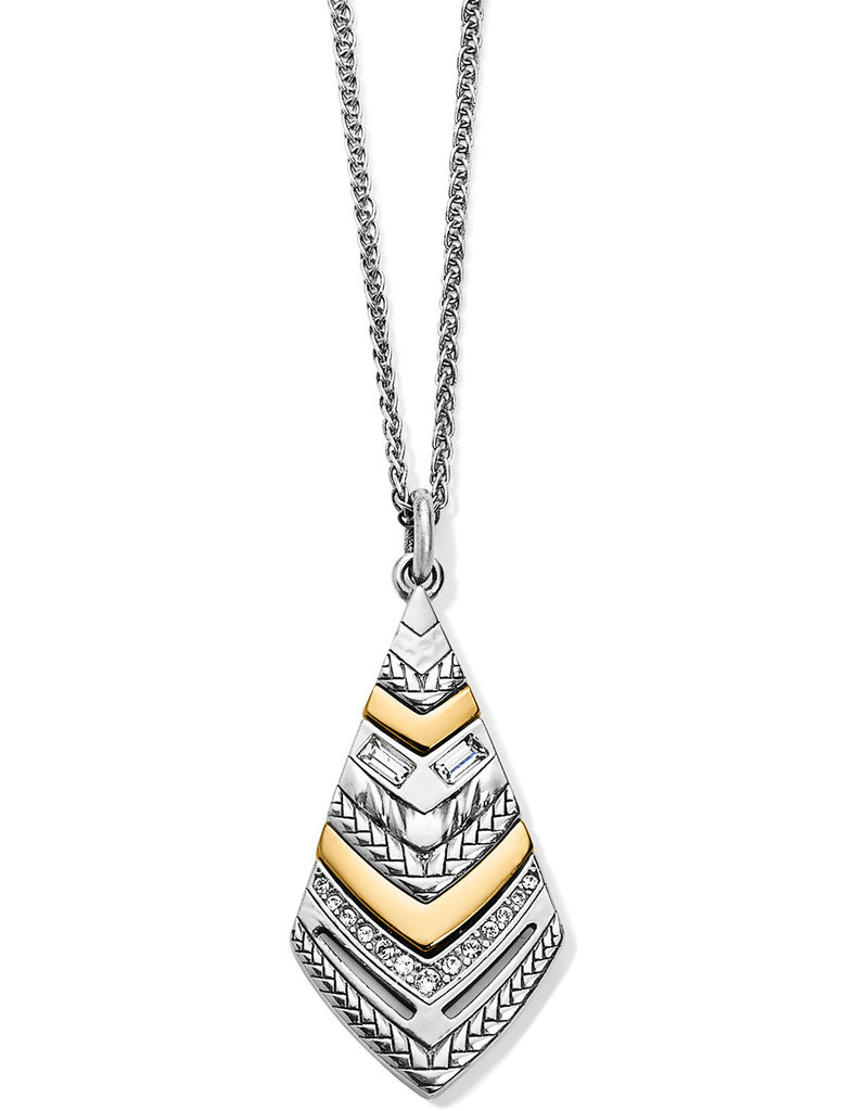 Brighton Tapestry Kite Short Necklace Silver-Gold