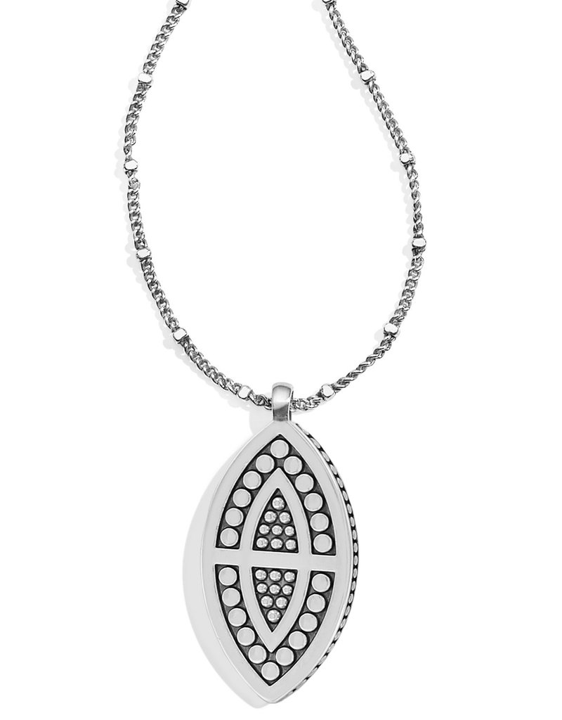 Brighton Pebble Disc Marquise Necklace