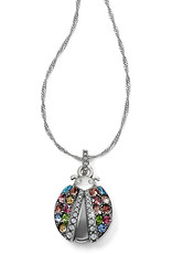 Brighton Trust Your Journey Lady Bug Reversible Necklace