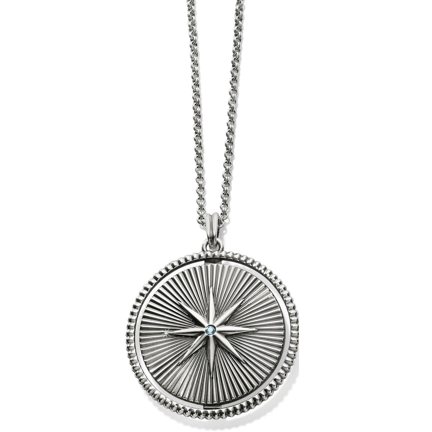 Halo Rays Round Pendant Necklace Tanzanite