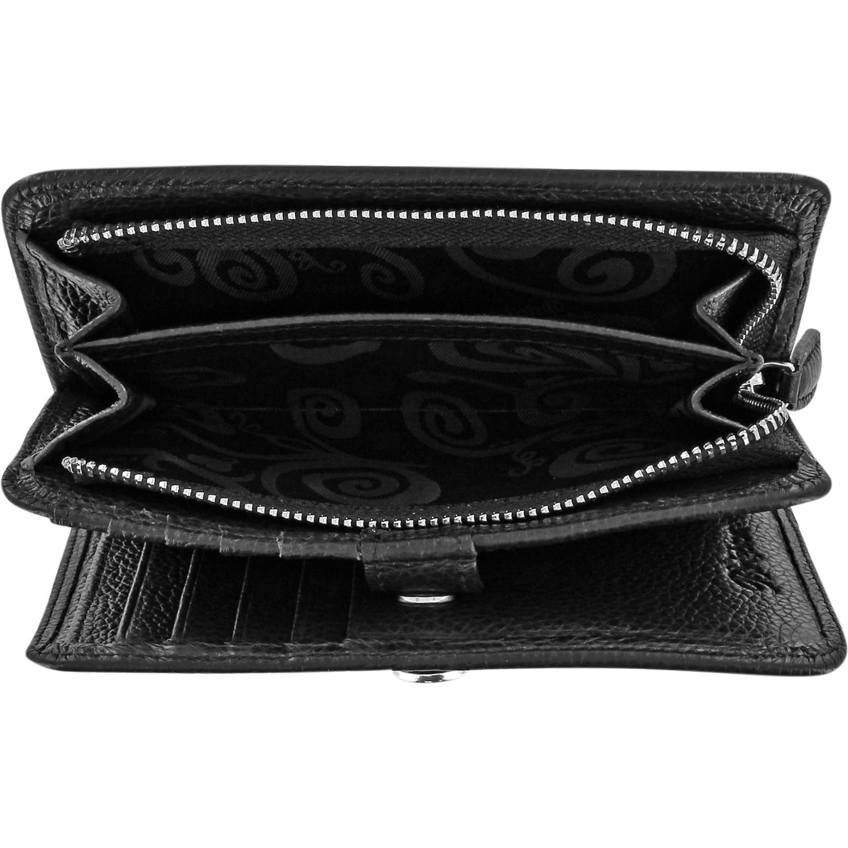 Brighton Pretty Tough Medium Zip Wallet Black