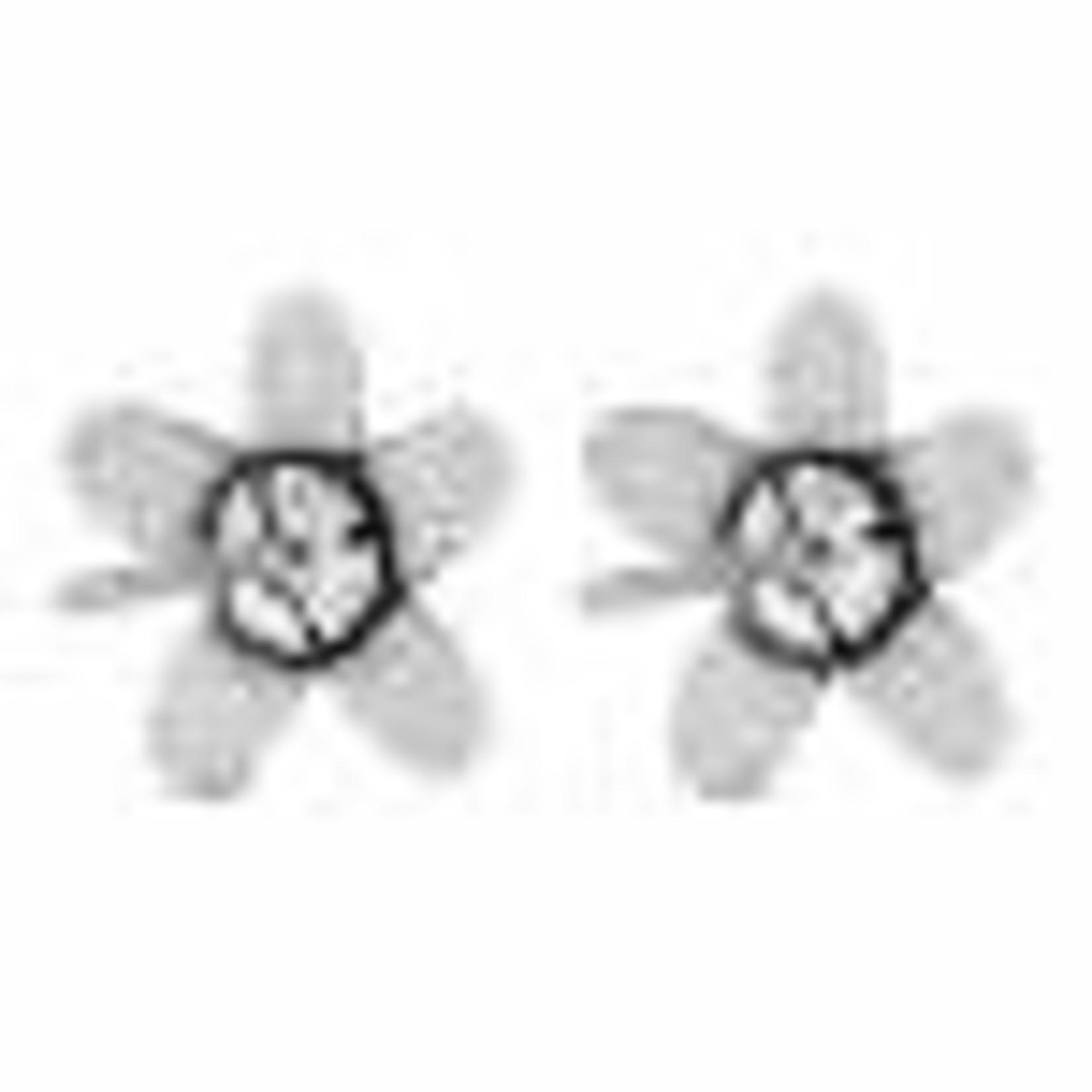 Brighton Love Bouquet Mini Post Earrings Silver-White