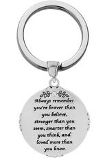 Brighton Brave Angel Key Fob Silver-Gold