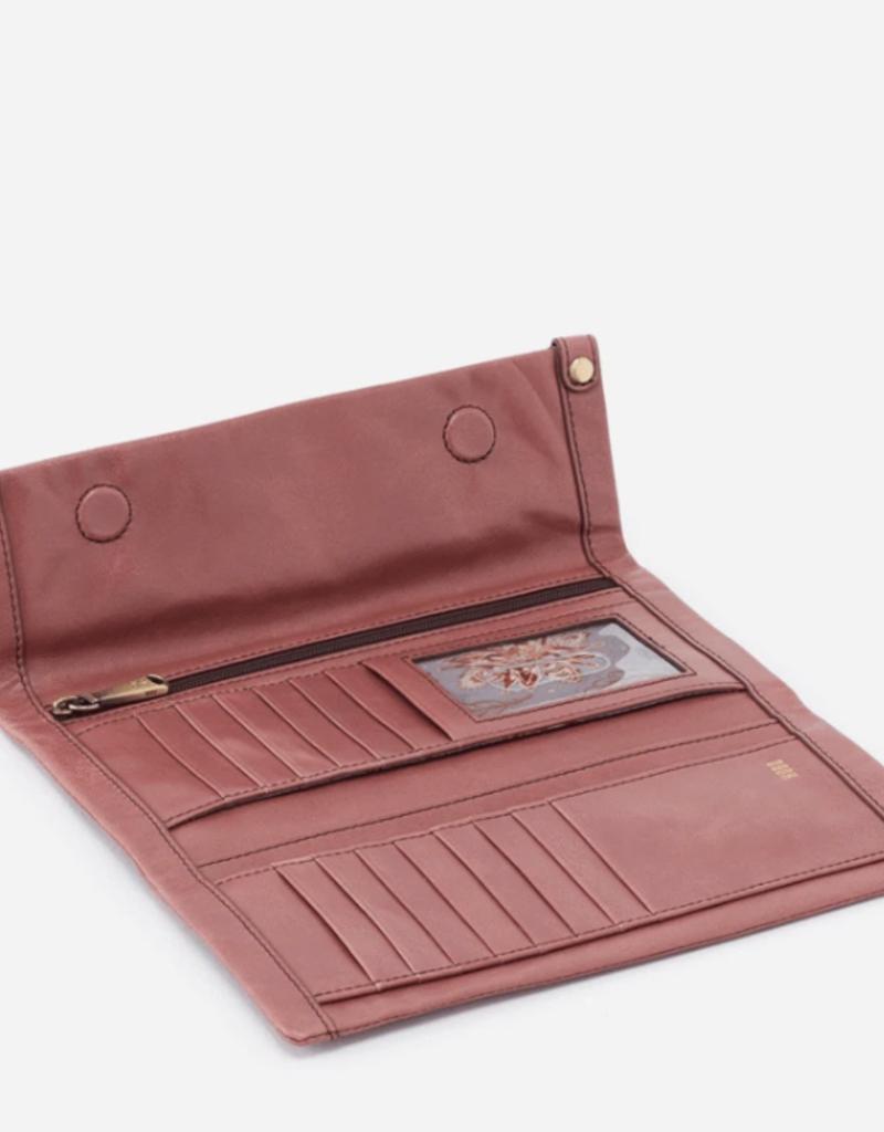HOBO Fable Burnished Rose Vintage Hide Leather Wallet