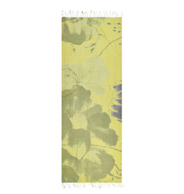 100%HandwovenSilk/JapaneseBrushStroke/Floral/Yellow/Green