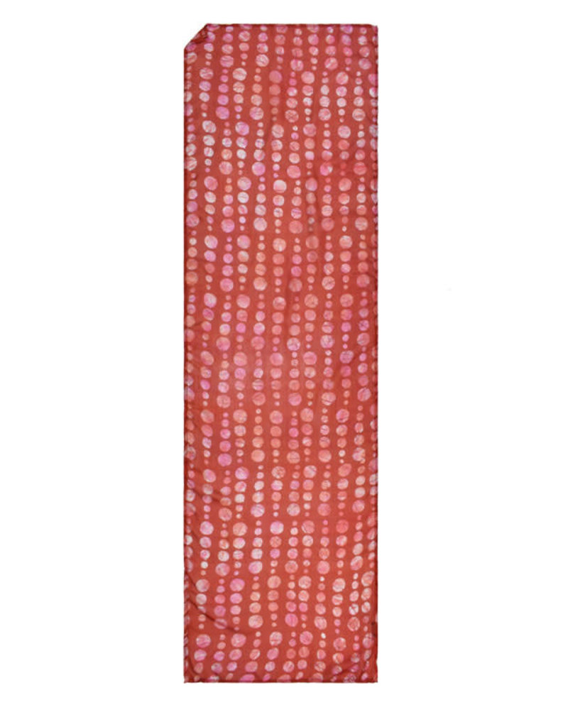 100% Silk Batik TieDye Dot Coral Scarf