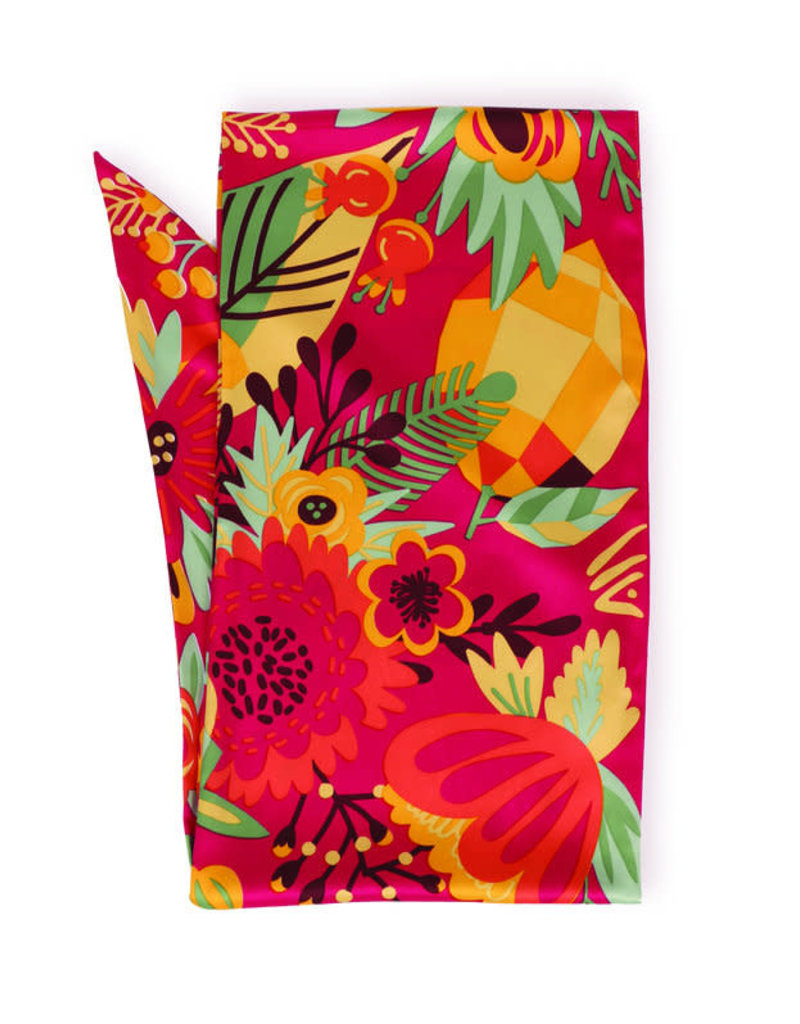 Powder Tropical Fruit 100% Poly Print Neck Scarf