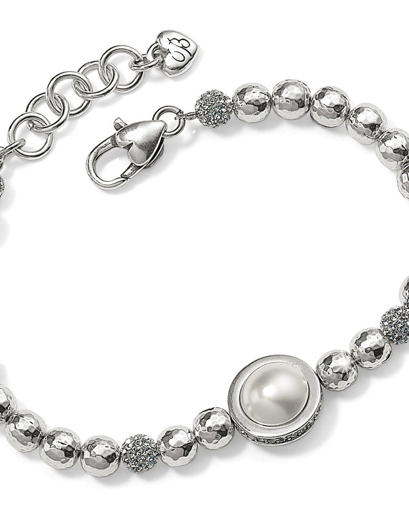 Brighton Chara Ellipse Pearl Bracelet Silver-Pearl