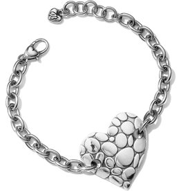 Brighton Pebble Heart Chain Bracelet
