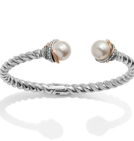 Brighton Neptune's Rings Pearl Open Hinged Bangle