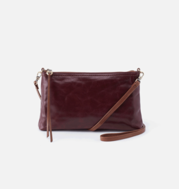 HOBO Darcy Deep Plum Vintage Hide Leather Wristlet/Crossbody