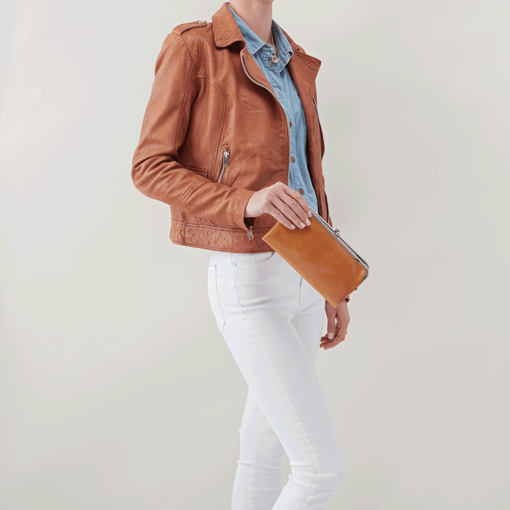 HOBO Lauren Honey Vintage Hide Leather Wallet/Clutch