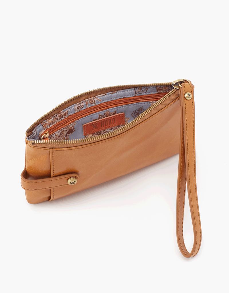 HOBO King Honey Vintage Hide Leather Wristlet