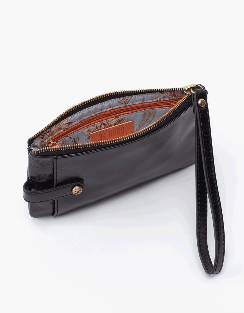 HOBO King Black Vintage Hide Leather Wristlet