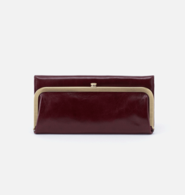 HOBO Rachel Deep Plum Vintage Hide Leather Foldover Wallet