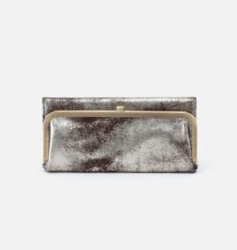 HOBO Rachel Heavy Metal Leather Foldover Wallet