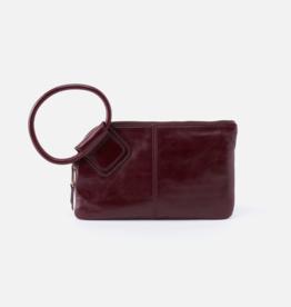 HOBO Sable Deep Plum Vintage Hide Leather Wristlet w/Loop