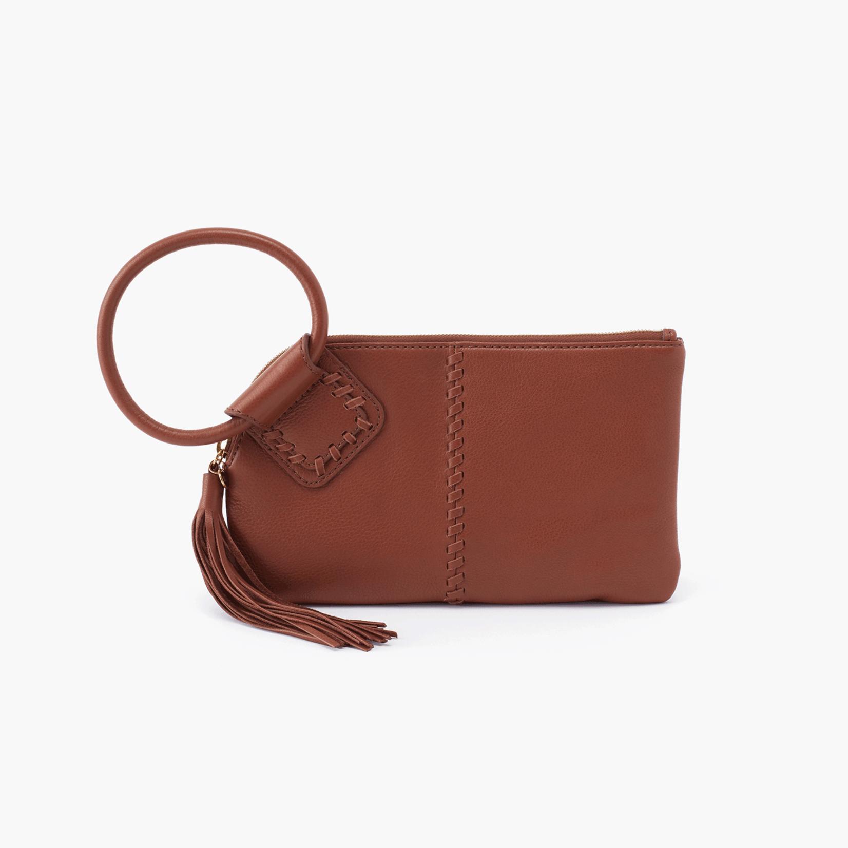 HOBO Sable Toffee Velvet Hide Leather Wristlet w/Loop