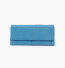 HOBO Wonder Dusty Blue Velvet Hide Leather Wallet/Wristlet