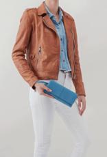 HOBO Wonder Dusty Blue Velvet Hide Leather Wallet/Wristlet