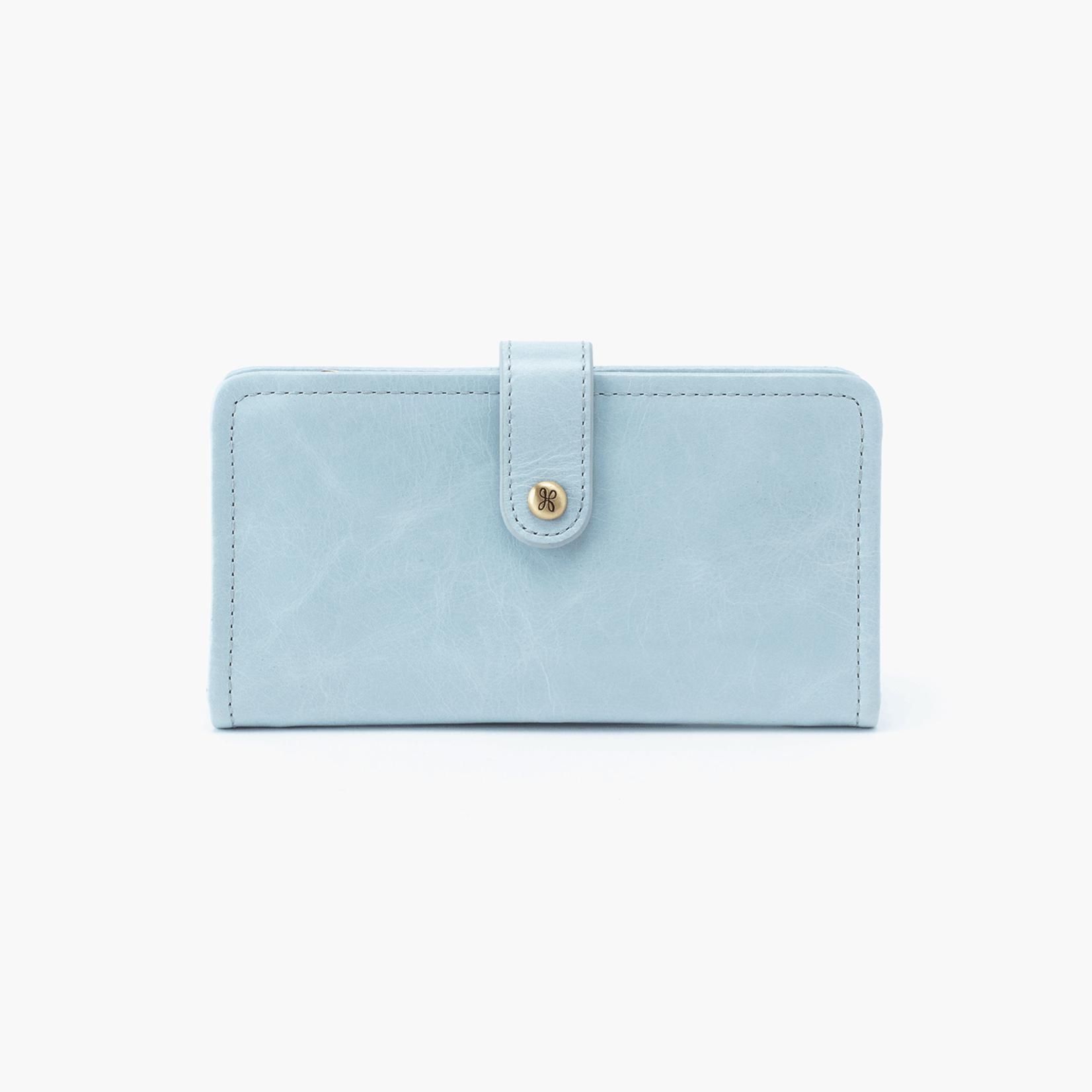HOBO Torch Whisper Blue Vintage Hide Wallet
