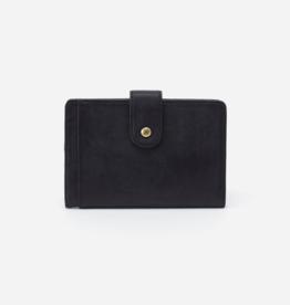 HOBO Pax Black Matte Vintage Hide Leather Passport Holder/Wallet