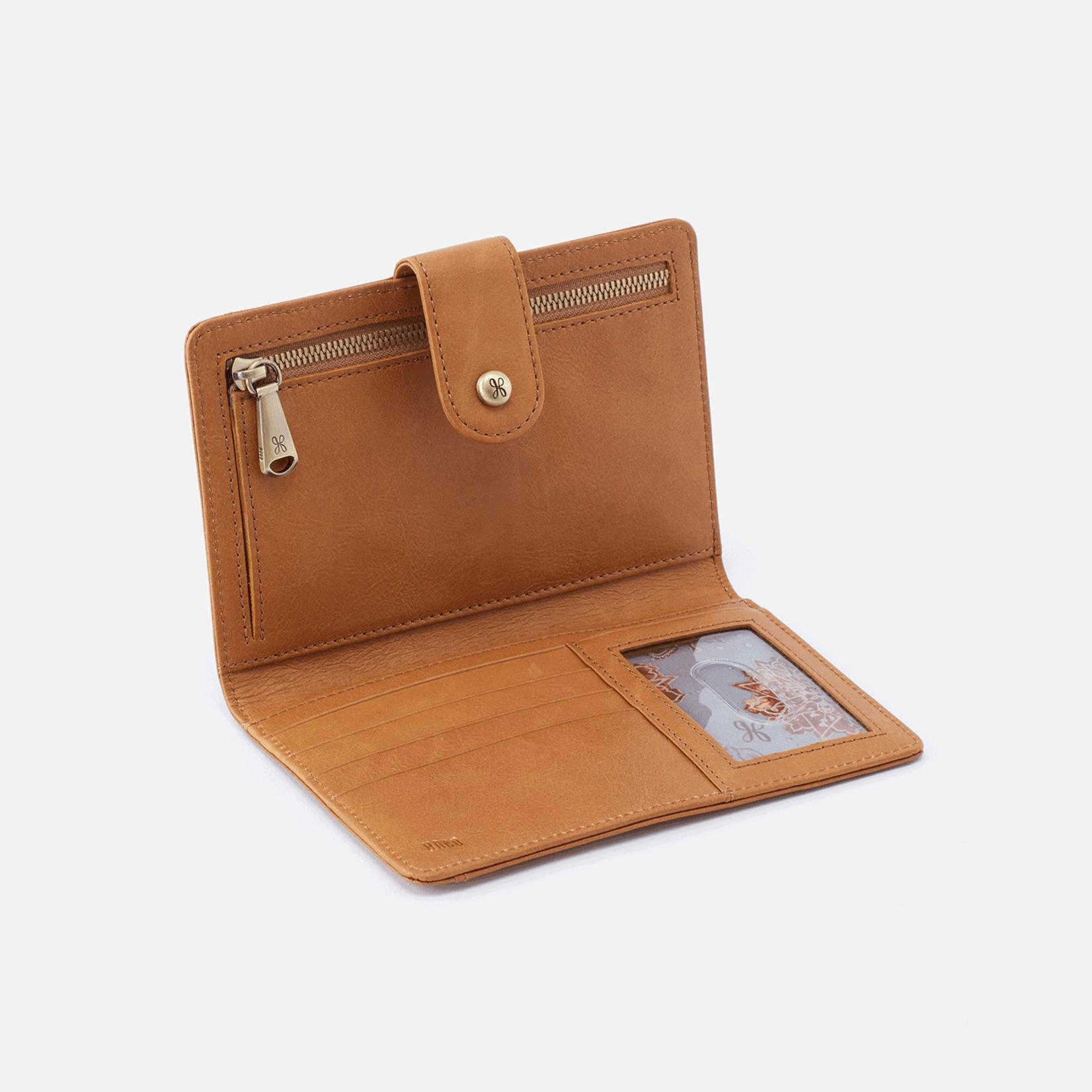HOBO Pax Honey Matte Vintage Hide Leather Passport Holder/Wallet