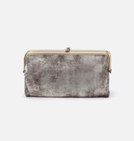 HOBO Lauren Heavy Metal Leather Wallet/Clutch