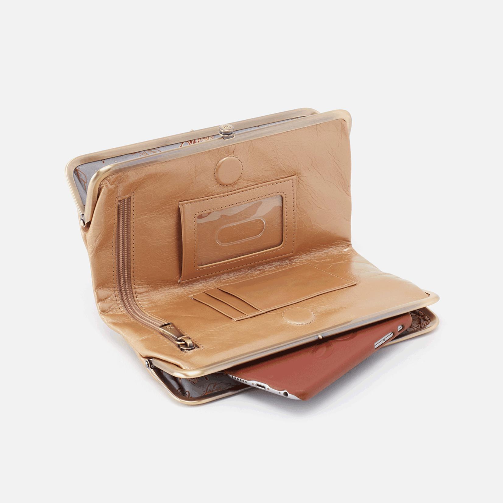 HOBO Lauren Gold Dust Leather Wallet/Clutch