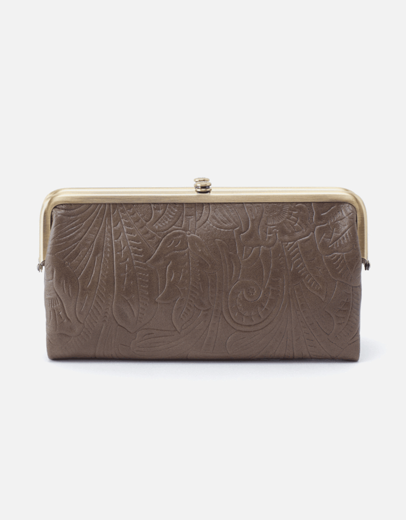 HOBO Lauren Shadow Embossed Vintage Leather Wallet/Clutch
