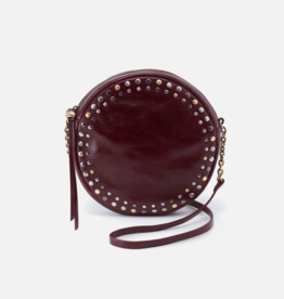 HOBO Comet Deep Plum Vintage Hide Leather Round Crossbody