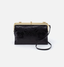 HOBO Leanne Black Embossed Leather Clutch/Crossbody