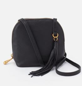 HOBO Nash Black Velvet Hide Leather Crossbody