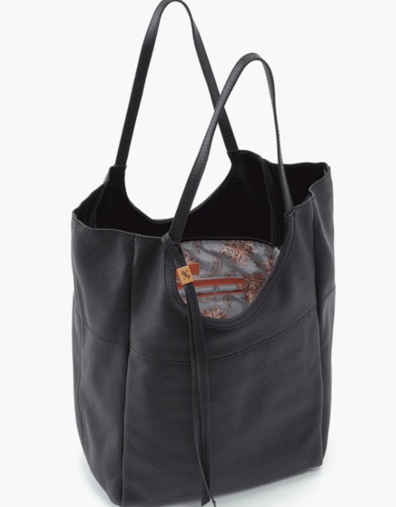 HOBO Native Black Velvet Hide Leather Tote