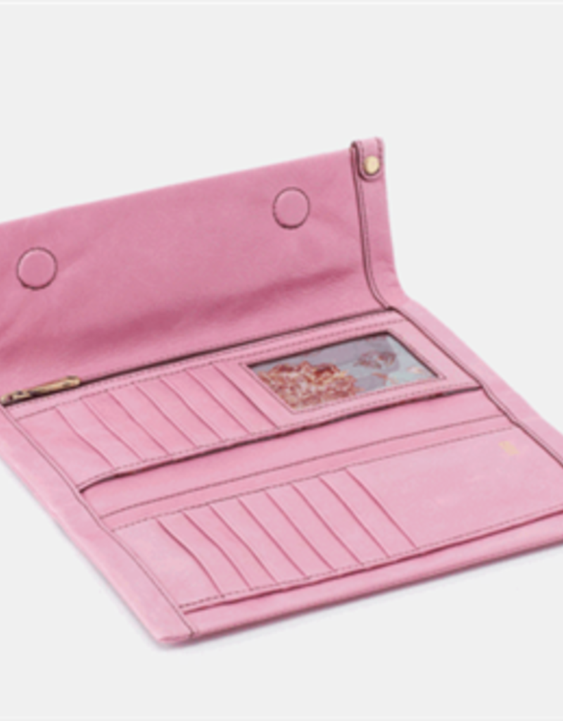 HOBO Fable Lilac Pink Vintage Hide Leather Wallet