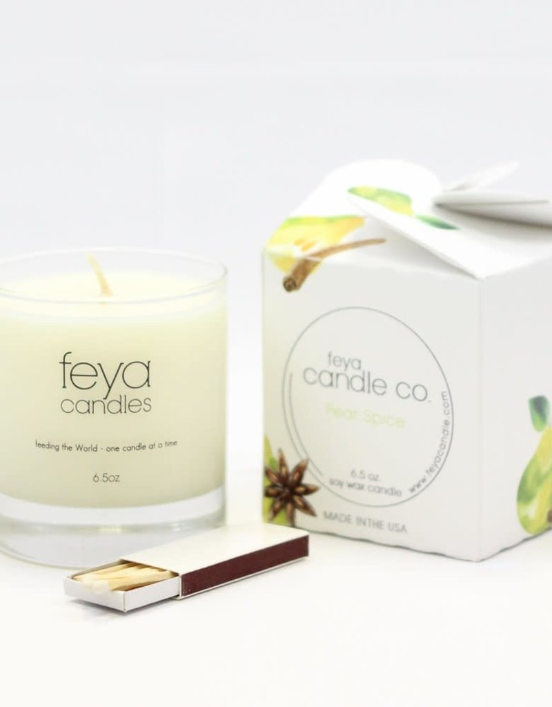 PearSpice 6.5 oz Soy Wax/Boxed Candle