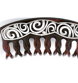 Brighton London Groove Hair Clip in Tortoise