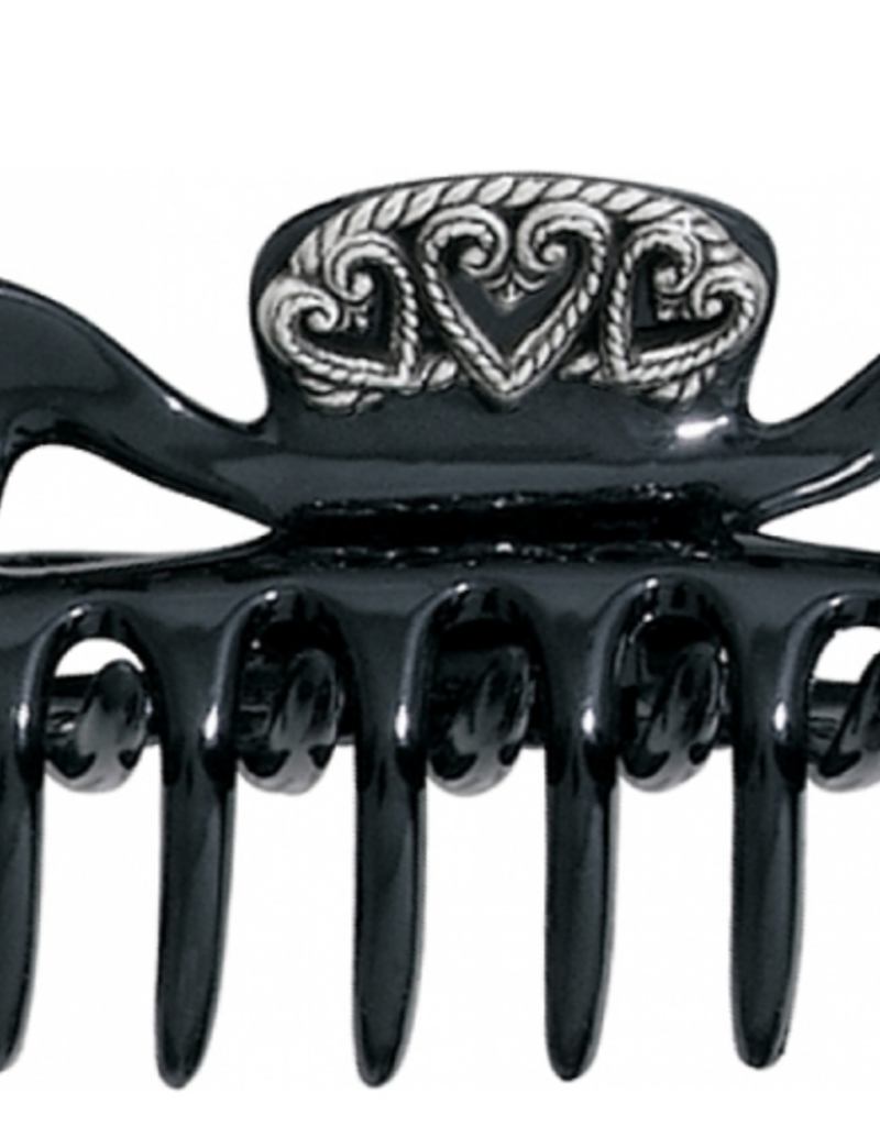Brighton Stella Hair Clip in Tortoise Black