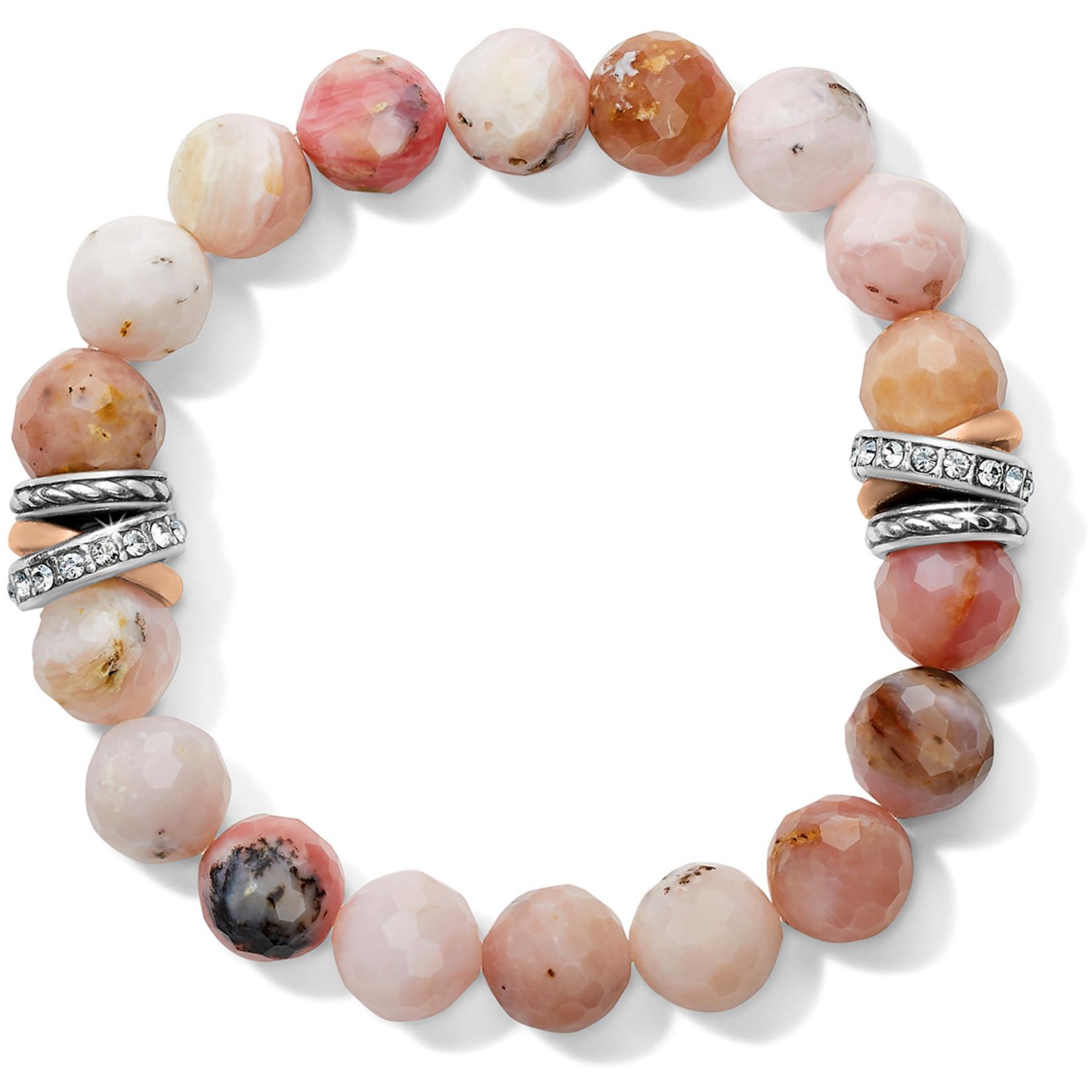 Brighton Neptune's Rings Pink Opal Stretch Bracelet