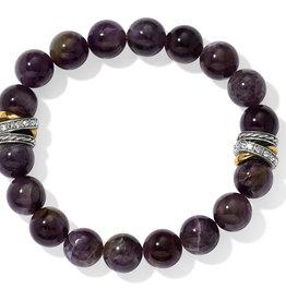 Brighton Neptune's Rings Amethyst Stretch Bracelet