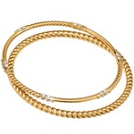 Brighton Neptune's Rings Rope Bangle Set Gold