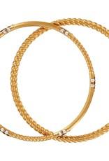 Brighton Neptune's Rings Rope Bangle Set Gold