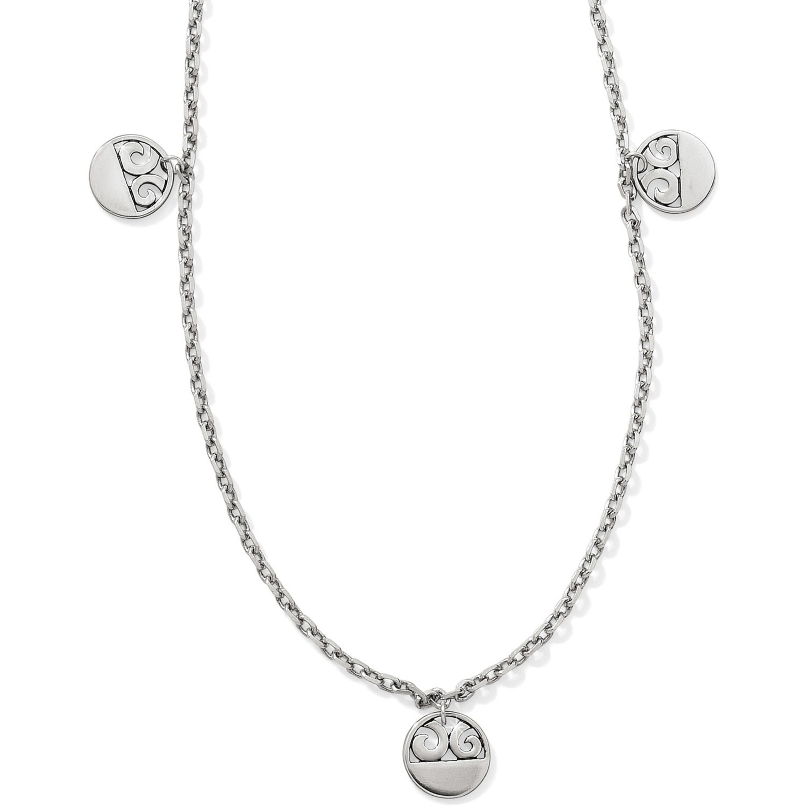 Brighton London Groove Disc Long Necklace
