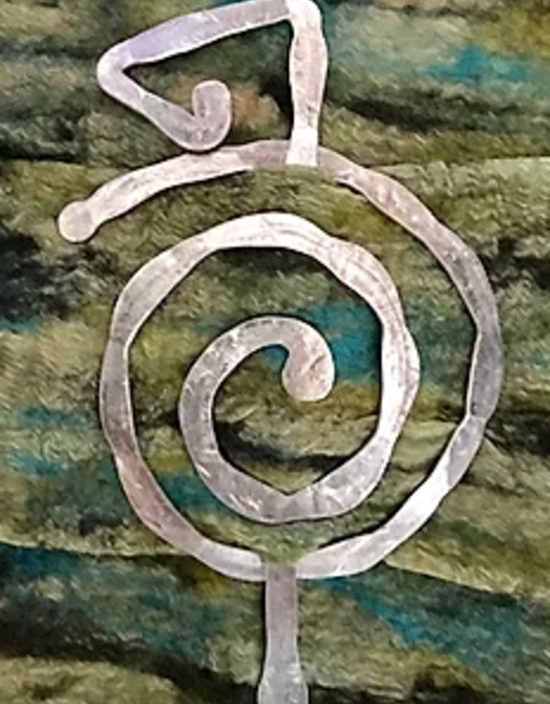 Scarf Pin/Hand Hammerd/Recycled Aluminum