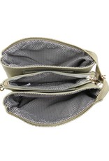 Riley - Vegan Leather Double-Sided Wristlet/Crossbody - Bronze (BZ)