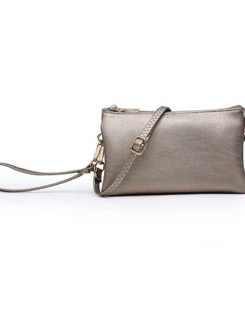 Riley - Vegan Leather Double-Sided Wristlet/Crossbody - Copper(CP)