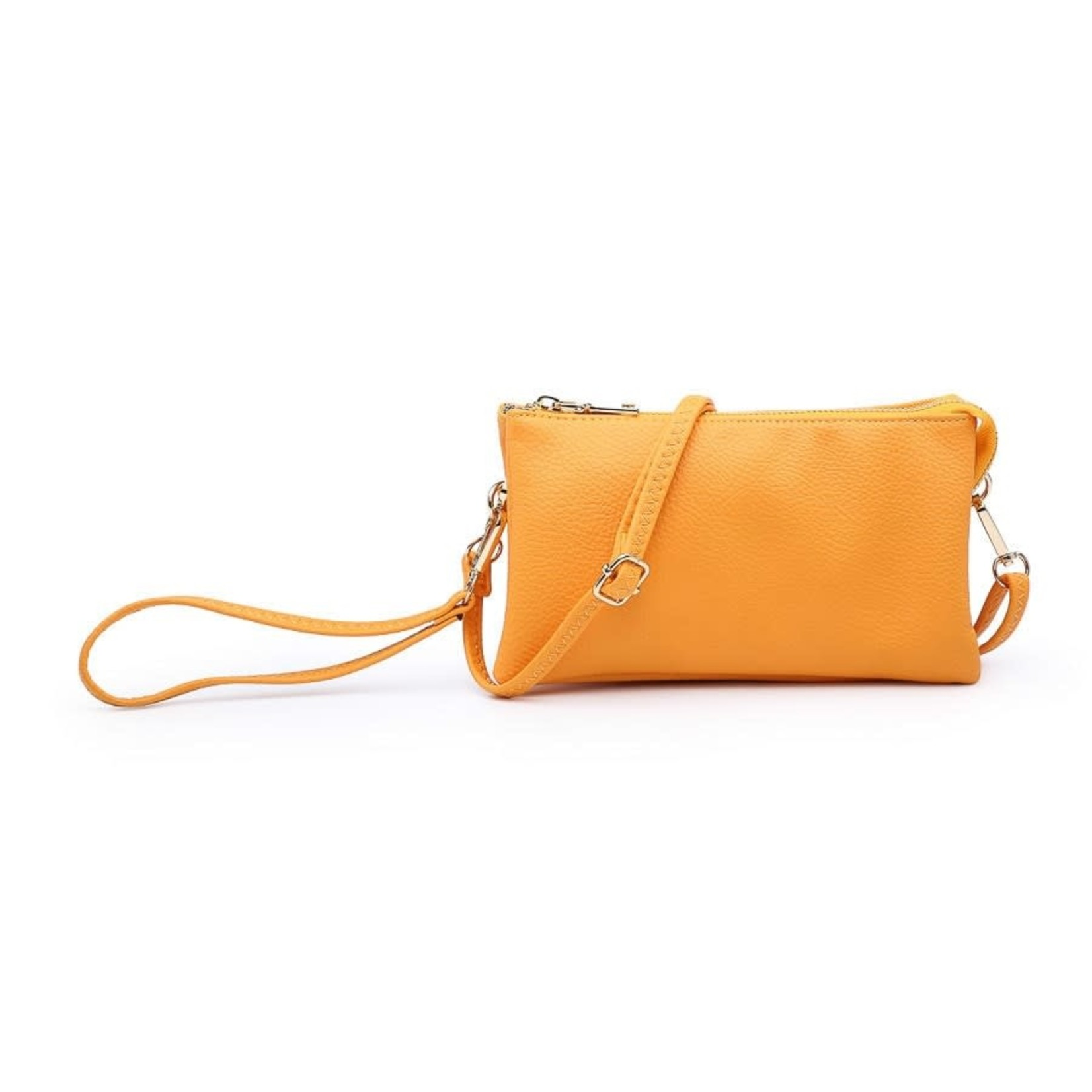 Riley - Vegan Leather Double-Sided Wristlet/Crossbody - Lt Orange(LOR)