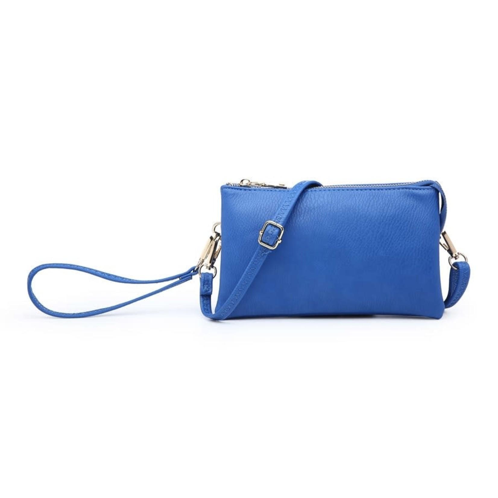 Riley - Vegan Leather Double-Sided Wristlet/Crossbody - Royal Blue (RYB)