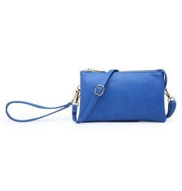 Wristlet/Crossbody in Royal Blue Vegan Leather