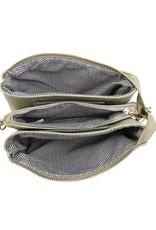 Riley - Vegan Leather Double-Sided Wristlet/Crossbody - Moss